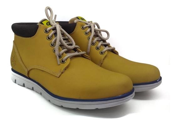 Zapato Hombre Borcego Oxigeno Originales Cuero Tipo Nubuck