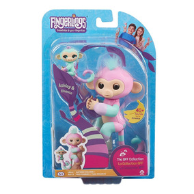 Macaquinho Fingerlings Monkey Interage C/ Filhote - Original