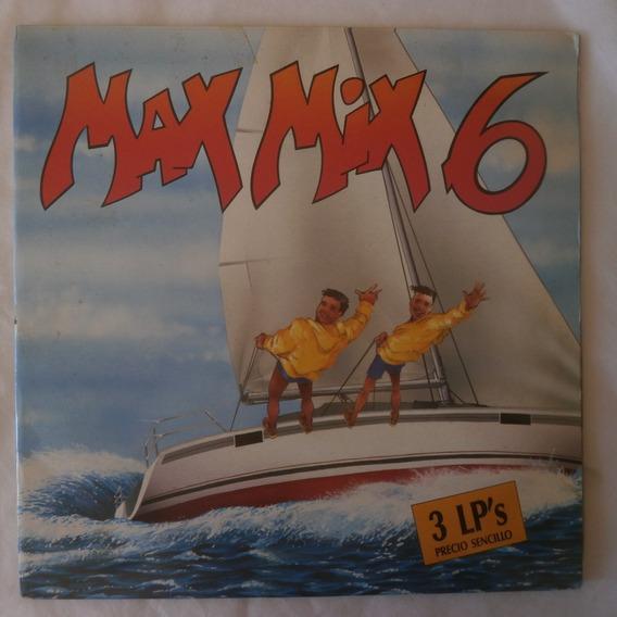 Lp Triplo Max Mix 1988 Vol.6, Eurodisco Importado Espanha