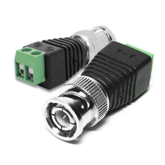 Kit 200 Conectores Bnc Borne + 200 P4 Macho P/cftv Borne