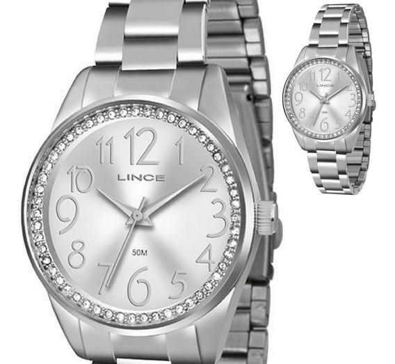 Relógio Feminino Prateado Lince Modelo Lrmj056l Original