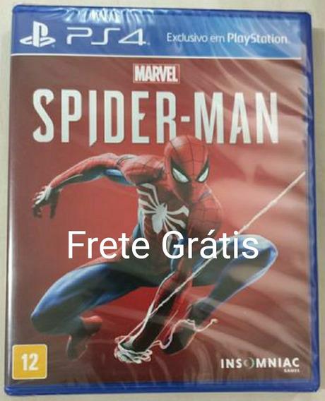 Spider Man Ps4 Física Pt-br Lacrado + Brinde Frete Grátis
