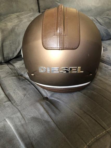 Raridade Capacete Seminovo Dourado Agv Diesel Original