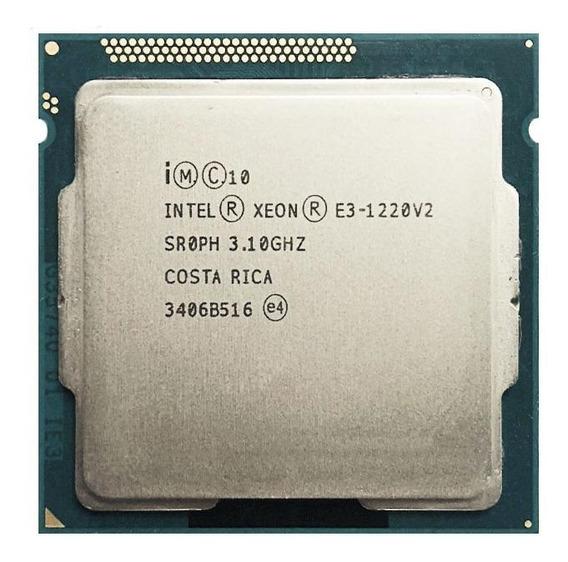 Processador Intel Xeon E3-1220 V2 CM8063701160503 de 4 núcleos e 3.5GHz de frequência