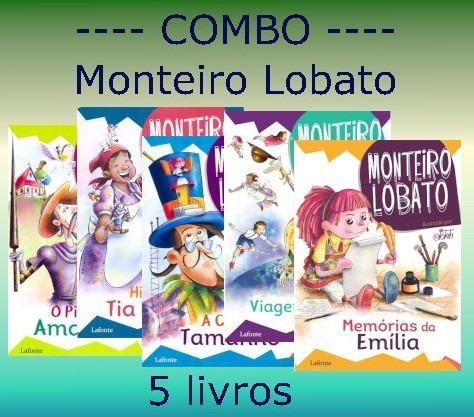 Combo Monteiro Lobato - 5 Livros Inéditos - Aproveite