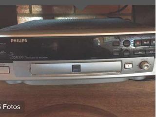 Gravador De Cd Philips Cd-r 570 Com Gaveta Estragada