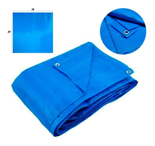 Lona Encerado Polietileno 2x2mts Azul 14541 Rayco