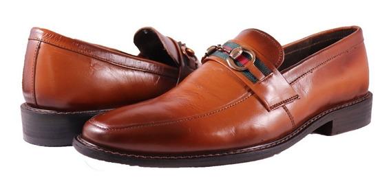 Mocasines Piel Suela Cuero Tipo Gucci Louis Vuitton Zapatos