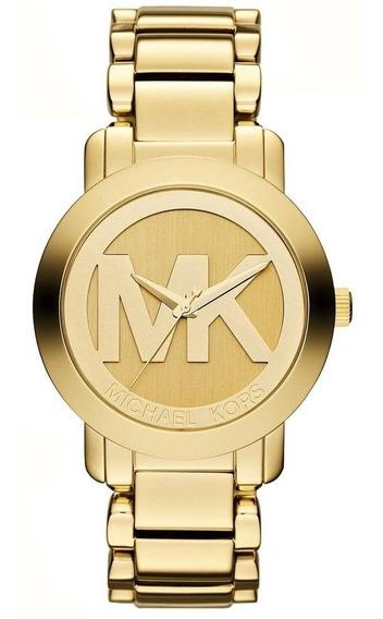 Relógio Feminino Michael Kors Dourado Mk3206 Promoção