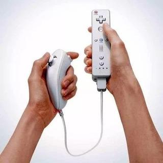 Controle Remoto Jogo Nintendo Wii Com Capa + Nunchuck Kit