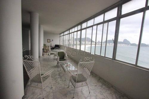 Cobertura Duplex - Alto Luxo - Posto 6 Atlantica, 430m2 2 Salões, 4 Quartos-suite 2 Vagas, Vista Total Posto 6 Ao Leme. - Ap8068