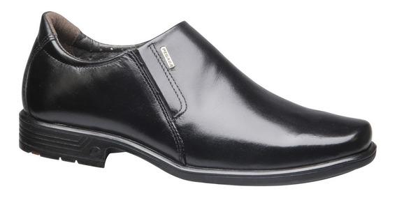 Sapato Masculino Couro Preto Soft Pegada Social Promoção