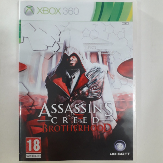 Xbox 360 - Assassin´s Creed Brotherhood - Original Usa/ntsc - Mídia Física - Capa Reimpressa - Sem Manual