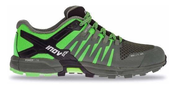 Zapatillas Inov-8 Roclite 305 Hombre Verde Con Negro