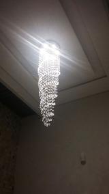 Lustre Em Cristal Para Escada Med 50 X 200 Cm Feito Sob Med