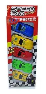 Speed Car Caja Con 5 Coches De Colección Js51061