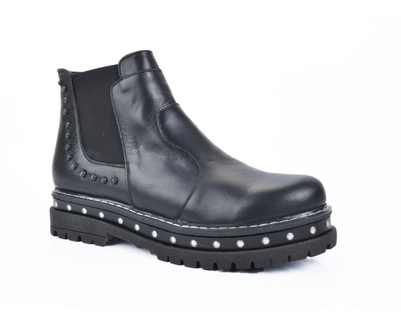 Botita Plataforma Tachas Calzado Mujer Riot Zapatos