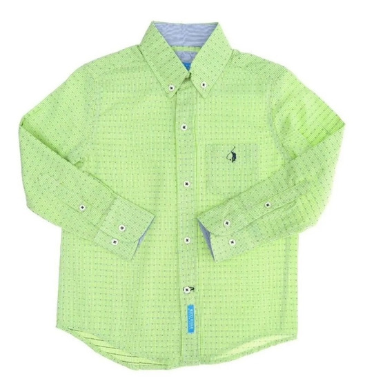 Polo Club Camisa Casual Niño T 16 Cuadros C287 - C288