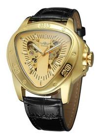 Relógio Winner Automático , Esquelo Geometrico Triangulo.
