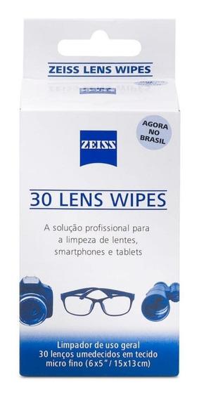 Lenço Umedecidos Limpeza De Lentes Zeiss Caixa Com 30 Uni