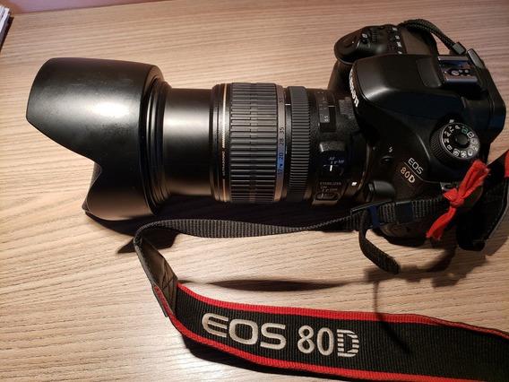 Câmera Canon 80d + Lente Canon Efs 17-55 Mm 2.8