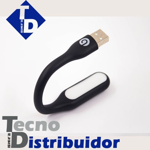 Mini Lampara Led Marca Gio Usb, Portatil Flexible Negra Td