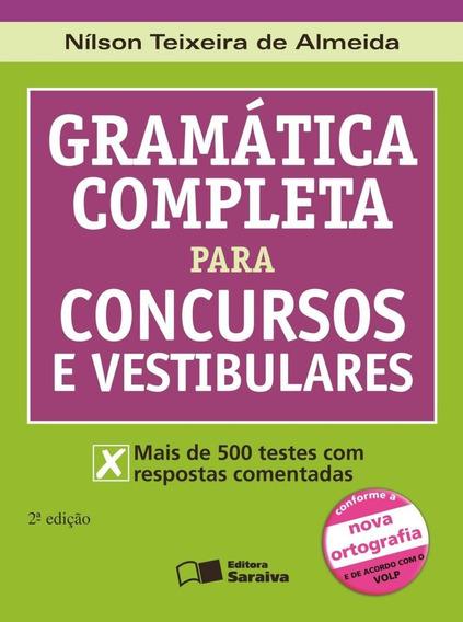 Gramática Completa Para Concursos E Vestibulares - Nova Ort