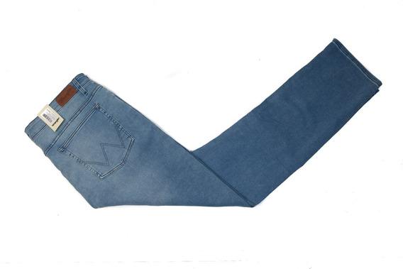 Jeans Hombre Wrangler Brockton Regular Slim Tiro Medio
