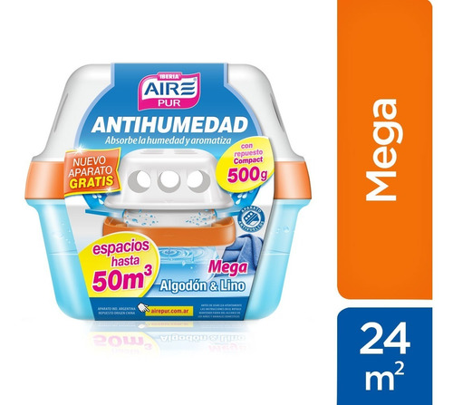 Antihumedad Mega 50m3 Protege Y Aromatiza - Aire Pur Iberia