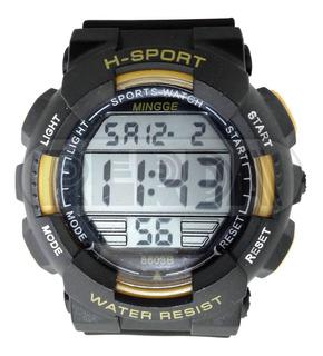 Reloj H-sport Water Resist Luz Cronómetro Cuotas Envio Grati