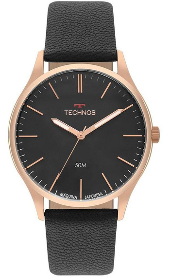 Relógio Masculino Technos Steel Dourado - Original