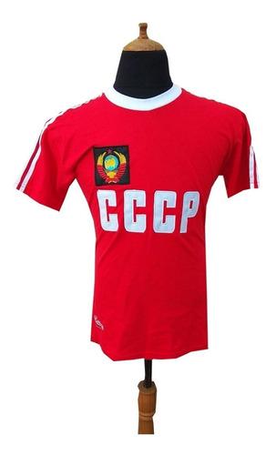Hermosa! Camiseta Rettro Cccp 1980 Oleg Blokhin Rusia Ussr