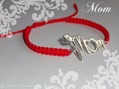 Pulsera  Mom Con Dije De Plata 950
