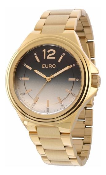 Relógio Euro Feminino Original Dourado + Frete Grátis. Novo!