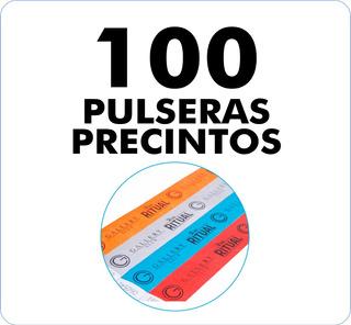 100 Pulseras / Precintos Tyvek Impresas En 48 Hrs