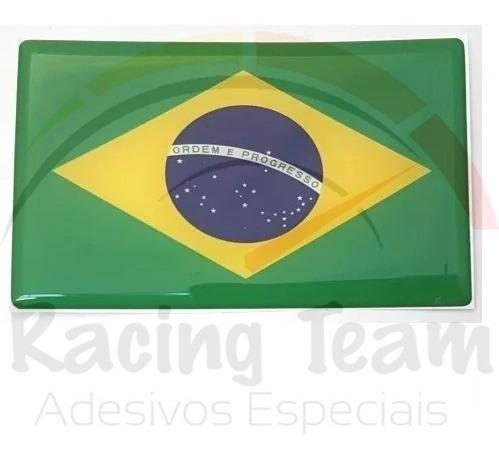Adesivo Bandeira Brasil Resinada Carro Ou Moto 4 Unidades