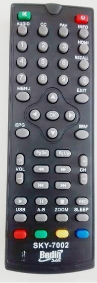 05 Pc Controle Remoto Receptor Digital Bedin Sat Bhd-10s