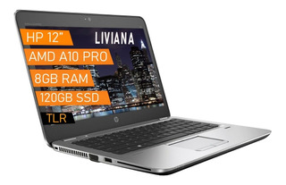 Notebook Hp A10 / 120 Ssd + 8gb Ram / 12a1 Radeon R6 Cuotas