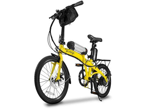 Bicicleta Dobrável Pliage Elétrica Amarela