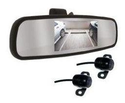 Espelho Retrovisor 4,3 Roadstar Camera Re Traseira E Frontal