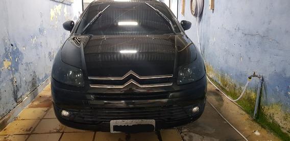 Citroën C4 1.6 Preto Completo Banco De Couro A/c Troca