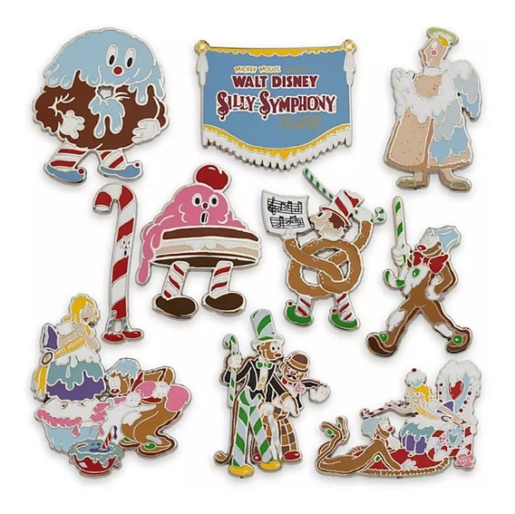 Disney Store Silly Symphony Pin Set Edición Limitada