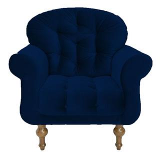 Poltrona Cadeira Escritório Consultório Dani Azul Marinho