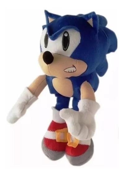 Boneco Pelúcia Sonic 30 Cm Antialérgico