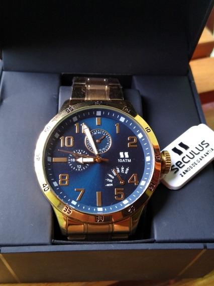 Relógio Séculos Dourado Original* 2anos De Garantia.