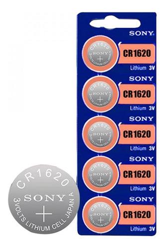 Set De 5 Baterias Pila Sony Cr1620 3v