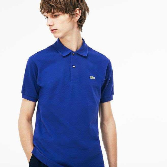 Polo Lacoste L1212 Classic Fit Color Ocean Nueva Temporada