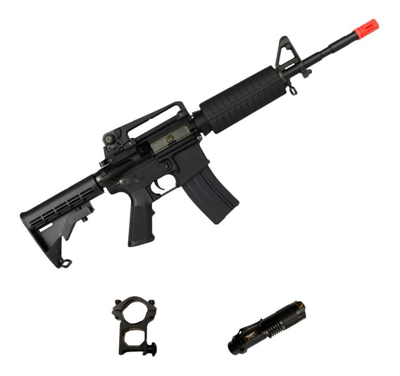 Rifle Airsoft Elétrico King Arms M4a1 Ultra Grade + Lanterna