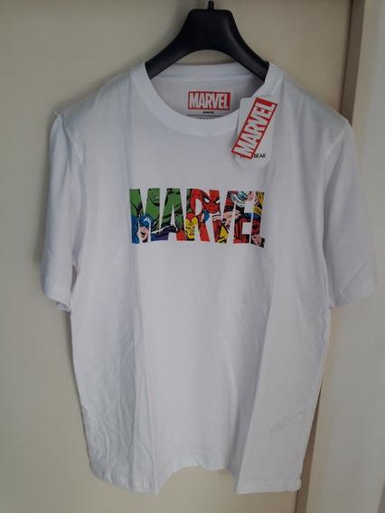Remera Pull & Bear Marvel Avengers Talle L Importada Nueva!