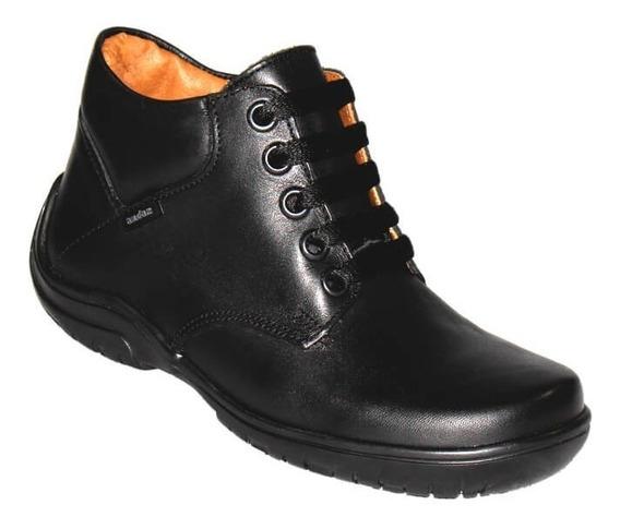 Zapato Escolar Colegial Bota Coqueta Niño Piel 80701